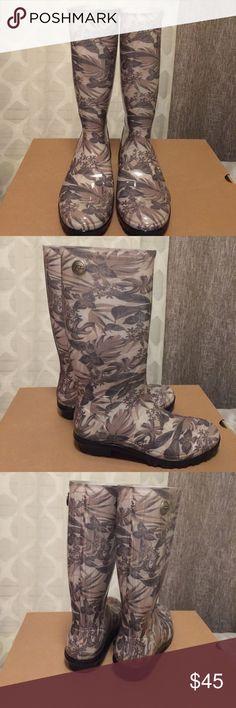 New Ugg Shaye Island Floral Rain Boots Size 7 New in box authentic Ugg shaye island floral tall rain boots size 7 UGG Shoes Winter & Rain Boots