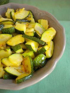 Courgette com limão e tomilho