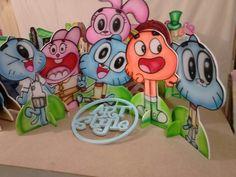 Festa gumball,,displays mdf pintado