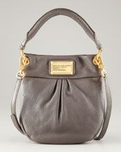 L8136 MARC by Marc Jacobs Classic Q Mini Hillier Hobo, Faded Alum