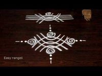 easy freehand rangoli designs for evenings Rangoli Borders, Rangoli Border Designs, Kolam Rangoli, Flower Rangoli, Indian Rangoli, Rangoli Designs Latest, Simple Rangoli Designs Images, Small Rangoli Design, Beautiful Rangoli Designs