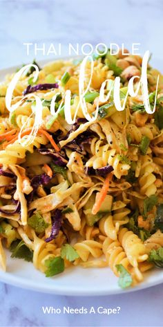 Thai Noodle Salad is a fantastic blend of great flavors. This easy to make side dish is great for BBQ's, you'll love the crunch of cabbage with the pasta. Best Side Dishes, Side Dish Recipes, Asian Recipes, Beef Recipes, Vegetarian Recipes, Dinner Recipes, Ethnic Recipes, Noodle Recipes, Vietnamese Recipes
