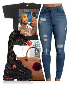 """""""""""You make a fool of me""""-//- meshell-ndegeocello"""" by trapanese-kids ❤ liked on Polyvore featuring River Island, MICHAEL Michael Kors, NIKE and Fendi"""