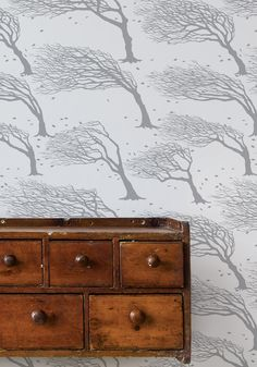Bold & Noble Wallpaper Northeasterly - Soft Grey