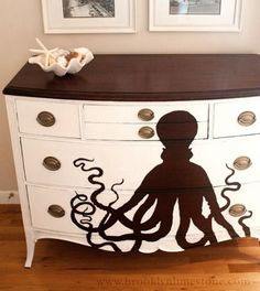 22 Ideas to Makeover a Dresser Coastal, Beach and Nautical Style: http://www.completely-coastal.com/2016/01/dresseer-makeover-coastal-beach-nautical.html