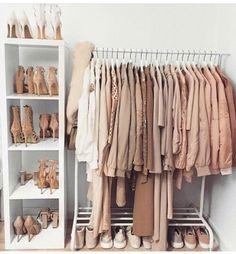 Wardrobe closet, walk in closet, pink closet, pink wardrobe, wardrobe ideas Pink Closet, Pink Wardrobe, Wardrobe Closet, Room Closet, Wardrobe Ideas, Room Ideas Bedroom, Bedroom Decor, Dressing Room Design, Closet Designs