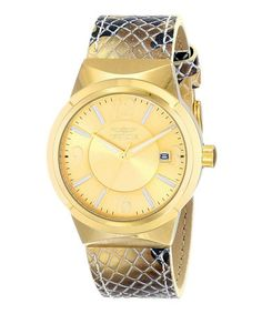Gold Angel Quartz Three-Hand Watch - Women #zulily #zulilyfinds