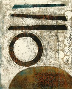 "Raising the Bar, by Anne Moore, monotype, 11""X 9"""