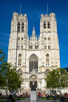 St. Michael and Gudula Cathedral. Brussels Belgium