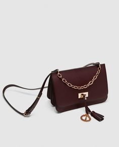 58fe656110 Image 1 of MEDIUM CROSSBODY BAG WITH CHAIN DETAIL from Zara Moyenne, Zara  Femme,