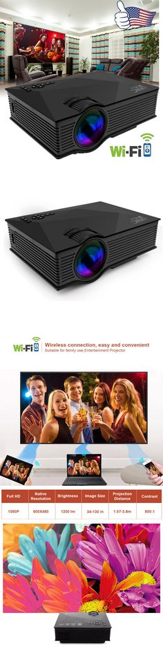 Home Theater Projectors: Wifi Ready Full Hd 1080P Led Lcd Vga Hdmi Tv Home Theater Projector Cinema -> BUY IT NOW ONLY: $69.99 on eBay!