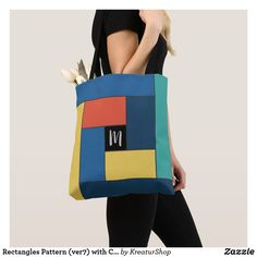 Monogram Tote Bags, Edge Design, Made Goods, Gym Bag, Best Gifts, Sewing, Pattern, Prints, Gift Ideas