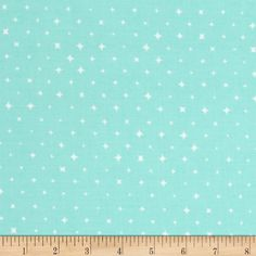 From Cloud 9 Fabrics, this certified 100% organic cotton print fabric meets the GOTS certification; only low impact, organic dyes were used in this product. Perfect for quilting, apparel, and home decor accents. Colors include minty aqua and white.