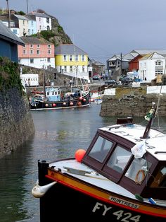 Mevagissey Harbour, south Cornwall, UK. (I'm also liking the name on the fishing boat in the foreground.)