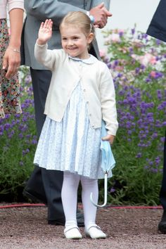 Princess Estelle of Sweden out and about celebrating mom Victoria's birthday. - TownandCountryMag.com