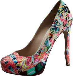 Nicholas Kirkwood Multicolor Bird Of Paradise Platform Pump