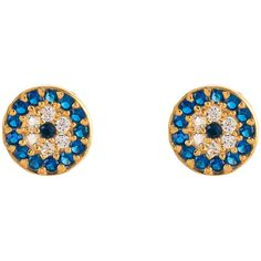 Latelita London - Evil Eye Earring (105 AUD) ❤ liked on Polyvore featuring jewelry, earrings, evil eye jewelry, evil eye earrings and earring jewelry
