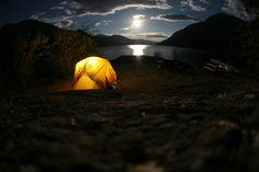Camping in Lake Chelan
