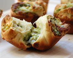 Chicken Pesto Muffin Bites