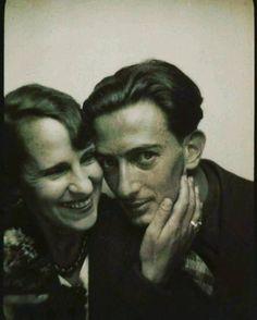 What a couple..Mr & Mrs Dali!  #dali#salvadordali#gala#blackandwhitephotography#blackandwhite#oldphoto#oldphotograph#picoftheday#surreal#husband#wife#picoftheday#vintagefashion#icon#legend#surreal#surrealism#photobooth#portrait#unique#icon#legend#1940s#1950s#love#romance#painter#photographer