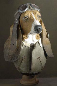 Basset-hound aviateur: