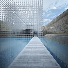 GM Architects Cut Through Beirut's Multicultural History at 2014 Venice Biennale,A view of the museum from the monolith. Image © GM Architects