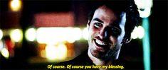 Killian's HUGE sigh of relief when David finally cracks a smile.