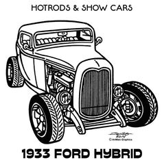 Line Illustrations - Hot Rods & Show Cars by James Jones, via Behance Cars Coloring Pages, Coloring Book Art, Drawing Machine, Pyrography Patterns, Classic Cartoon Characters, Line Illustration, Illustrations, Old School Cars, Black And White Drawing