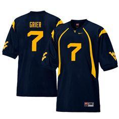 Men  7 Will Grier West Virginia Mountaineers Retro College Football Jerseys  Sale-Navy Wvu ac23aecd9