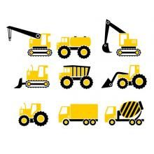 Construction Vehicles Pack Svg Cuttable Design With Images