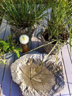 stadtlustgarten beton vogeltr nke und pflanzk bel selber machen bastelideen pinterest. Black Bedroom Furniture Sets. Home Design Ideas