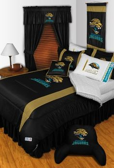 JACKSONVILLE JAGUARS 6PC TWIN BEDDING SET, Comforter, 3pc Sheet Set, Pillow Sham, Bedskirt, New NFL Football Boys From Dream Time Kids Bedding