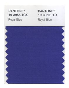 Royal Blue, which is both evocative and dignified, provides more complexity and excitement than the average navy, while still remaining versatile. #FashionColorReport #Fall2014