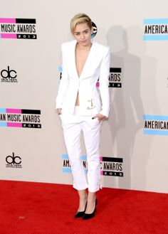 where oh where could i wear this.  miley cyrus white pant suit