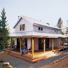 Remote cabin inspired by Forest Service