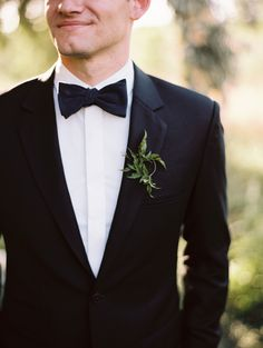 Leafy non-floral boutonniere: http://www.stylemepretty.com/2016/06/13/12-boutineers-your-hubby-will-want-to-pin-on/