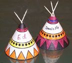 Been making these with kids at the library, but adults love them just as much!  Thanksgiving Teepee place holders  Craft for Kids