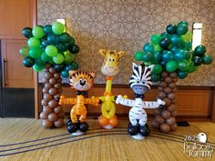 Take your next party, holiday, or company event to new heights with balloon decor! We decorate the areas surrounding Chicago, IL and Los Angeles, CA. Jungle Theme Parties, Party Themes, Carnival Themes, Balloon Animals, Balloon Decorations, Baby Birthday, Making Out, More Fun, Balloons