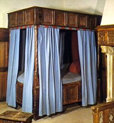 Bed curtains and antique bed Bed Curtains, Antique Beds, King Size, Cool Kids, Sleep, Google Search, Space, Antiques, Renaissance