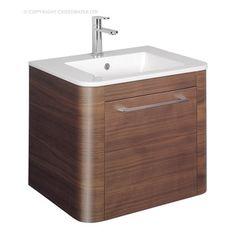 Bauhaus Celeste American Walnut 60 Vanity Unit & Basin
