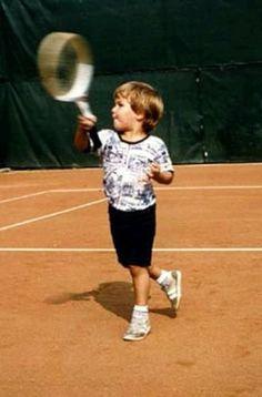 Roger Federer petit, déjà craquant