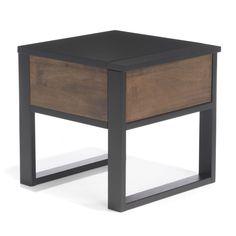 Table de chevet 1 tiroir Noyer doré et wengé - Spirit - Les tables de chevet - Chambre - Décoration d'intérieur - Alinéa