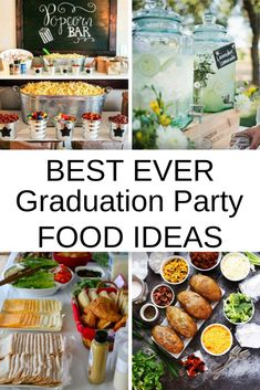 Best Graduation Party Food Ideas to Feed a Crowd – Living Well Planning Well - Modern Graduation Party Desserts, Outdoor Graduation Parties, Graduation Party Foods, College Graduation Parties, Graduation Ideas, Party Food On A Budget, Party Food Buffet, Outdoor Party Foods, Party Hacks