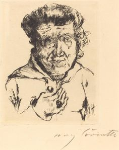 "Lovis Corinth, 1920, punta seca ""del artista Mother-in-Law"" en negro sobre papel verjurado http:// 1.usa.gov/1rY4UKY # MothersDay  pic.twitter.com / APmjDHpXWy"