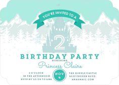 Ice Castle Birthday Party Invitation