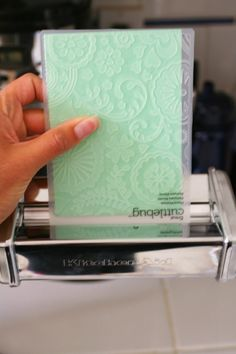 Pasta Machine Paper Embossing