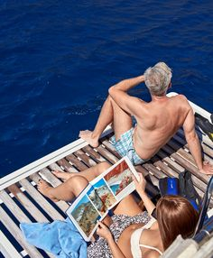 Relax with the one you love on a piravte yacht tour with Sunset Oia Sailing Cruises