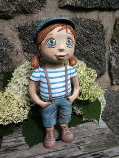 Malá+uličnice+Na+přání Statues, Pottery Sculpture, Garden Sculpture, Polymer Clay, Outdoor Decor, Artwork, Pasta, Food, Pottery