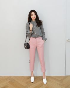 everyday NEW dahong Work Fashion, Cute Fashion, Daily Fashion, Trendy Fashion, Fashion Outfits, Womens Fashion, Fasion, Korean Fashion Trends, Asian Fashion
