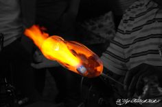 Glass blowing...
